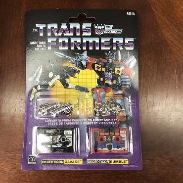 Transformers G1 Reissues Ravage and Rumble